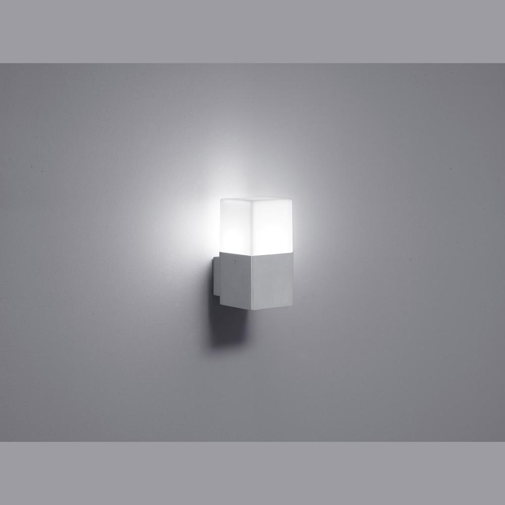 quadratische led wand aussenlampe titanfarben. Black Bedroom Furniture Sets. Home Design Ideas