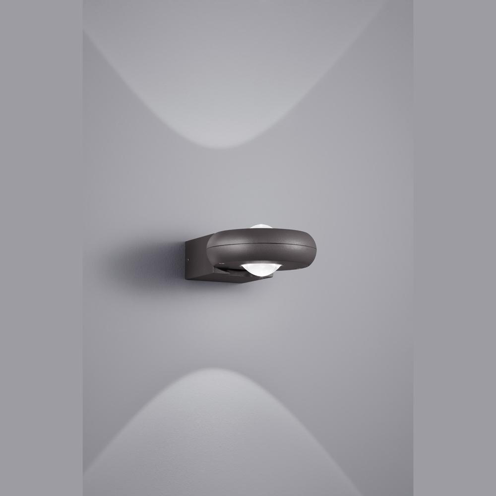 led wandlampe f r draussen in anthrazit. Black Bedroom Furniture Sets. Home Design Ideas