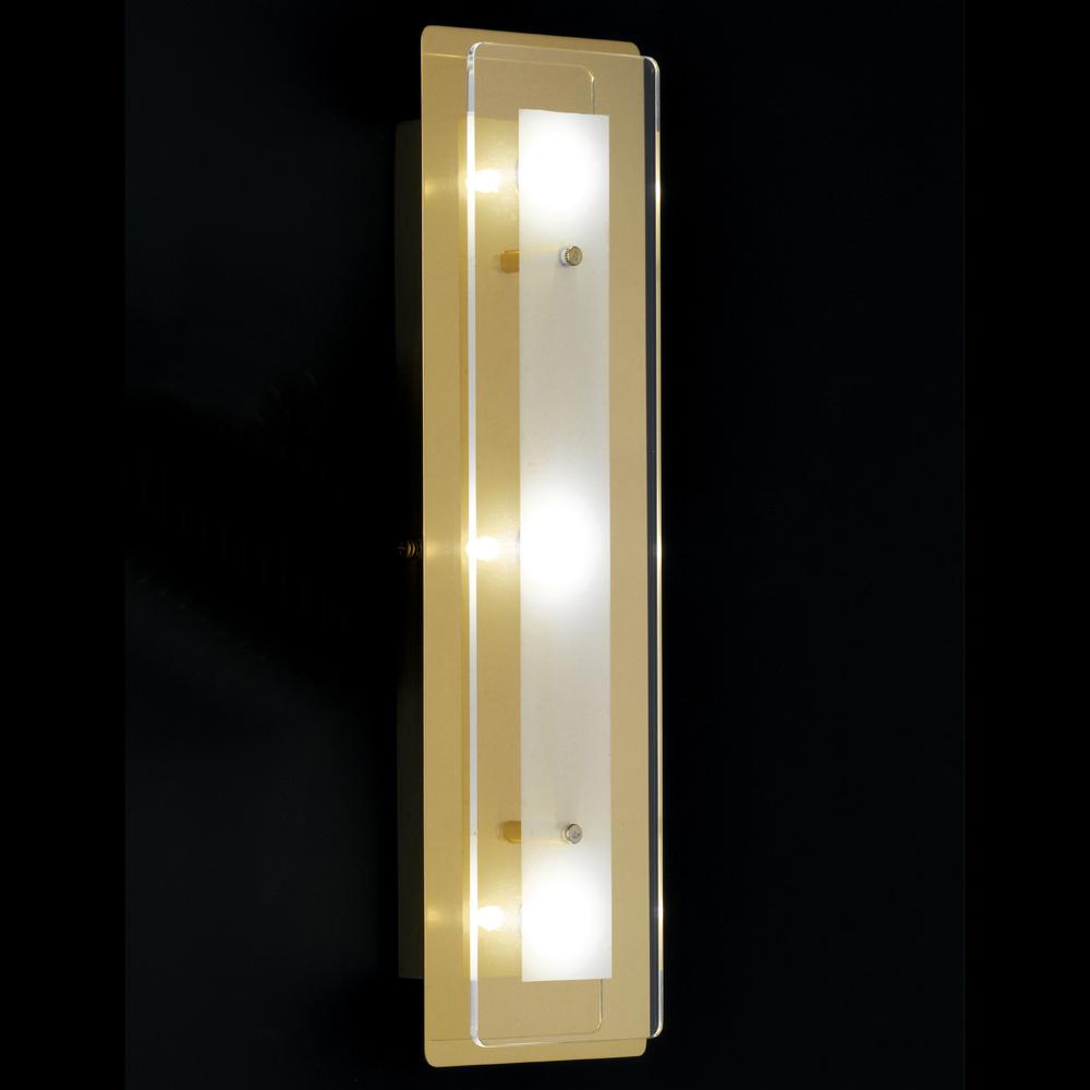 Led wandlampe in messing mit leuchtstarken 12 watt for Led wandlampe