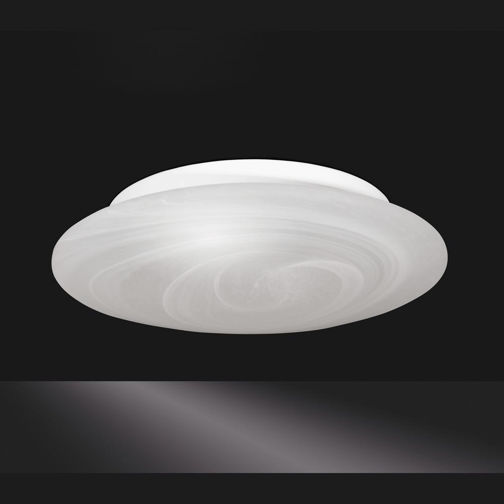 Flach gew lbte deckenlampe glas alabaster size 2 for Deckenlampe flach