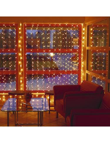Rideau lumineux 300 led blanc chaud - Rideau lumineux interieur ...