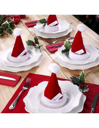 Tischdekoration Mit Befullbaren Weihnachtsmutzen