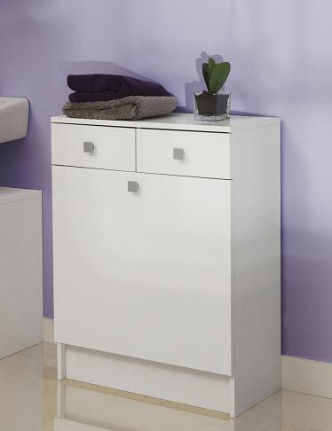 w scheschrank mit integriertem w schesack weiss. Black Bedroom Furniture Sets. Home Design Ideas