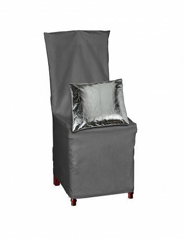 Housse de chaise avec noeud d co gris - Housse chaise habitat ...