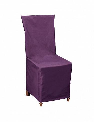 housse de chaise violette avec noeud d co. Black Bedroom Furniture Sets. Home Design Ideas