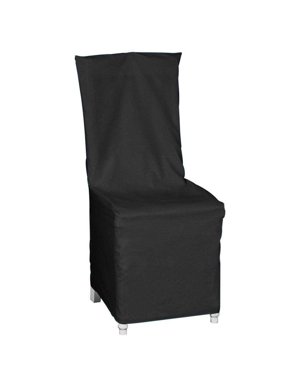 Housse de chaise avec noeud d co noir - Housse chaise habitat ...