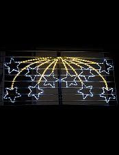 Weihnachtsbeleuchtung Außen Zug.Himmlisch Glitzernde Lichterkette