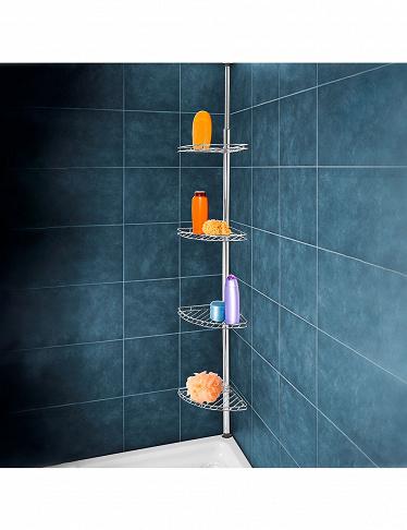 Étagère d\'angle pour salle de bain «Métal»