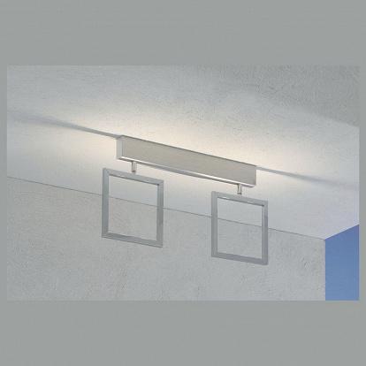 luftige 4 flammige led decken oder wandlampe alu matt. Black Bedroom Furniture Sets. Home Design Ideas