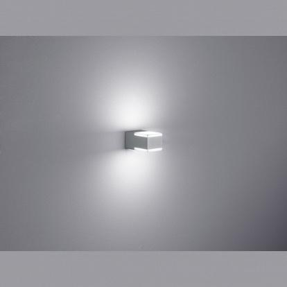 kompakte led aussen wandlampe titangrau. Black Bedroom Furniture Sets. Home Design Ideas