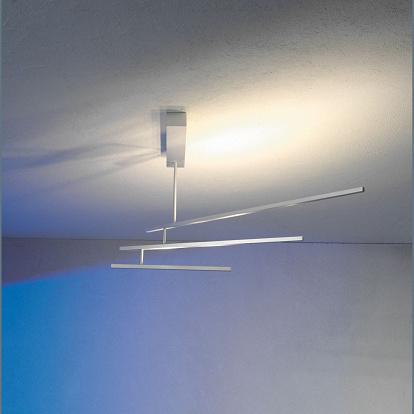 pfiffige 8 flammige led deckenlampe dimmbar in chrom. Black Bedroom Furniture Sets. Home Design Ideas