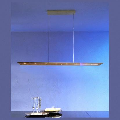 dimmbare 8 flammige led h ngelampe in echtgold. Black Bedroom Furniture Sets. Home Design Ideas