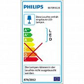 schlanke verstellbare LED-Lese-Stehlampe PHILIPS InStyle Swing in weiss-Bild-2