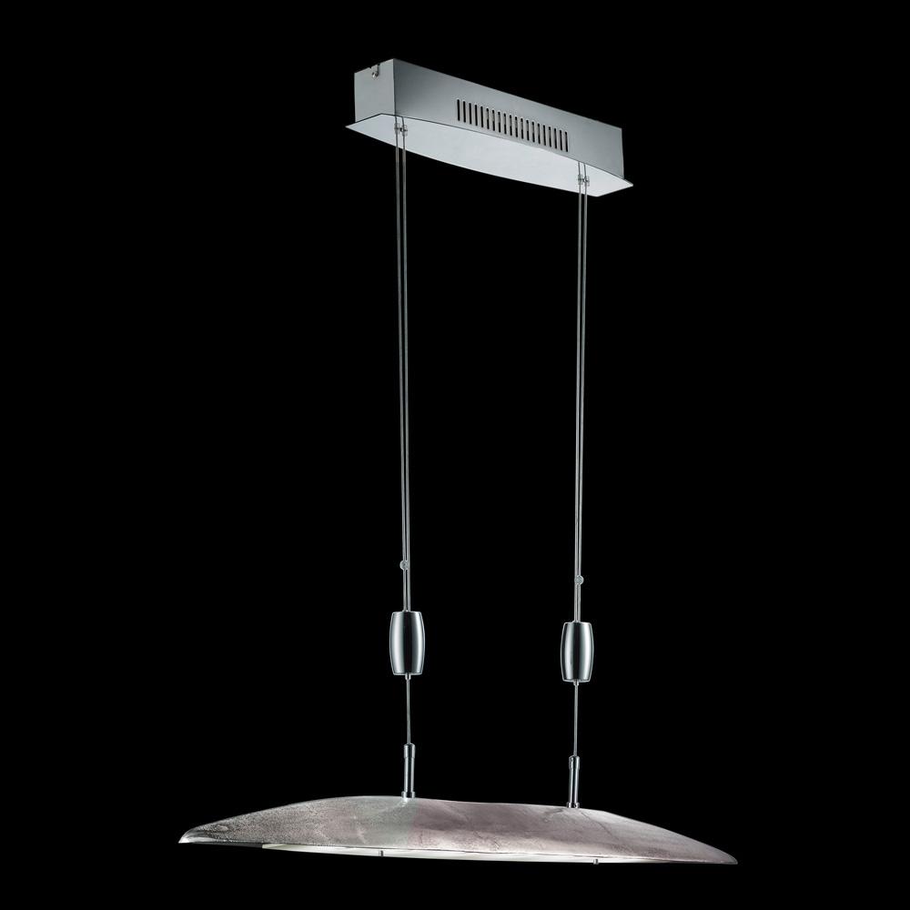 led h ngelampe in nickel antik h henverstellbar. Black Bedroom Furniture Sets. Home Design Ideas