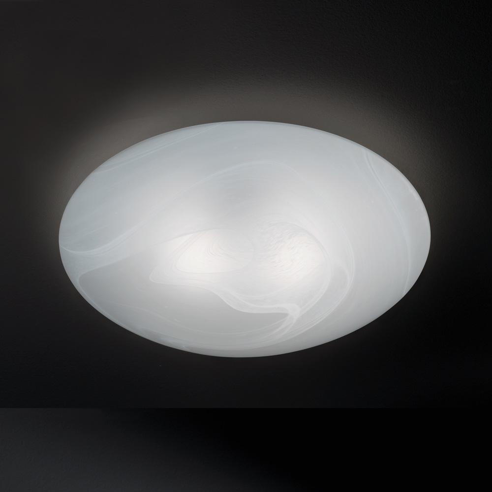 Pilzf rmig flache deckenlampe glas alabaster size 2 for Flache deckenlampe