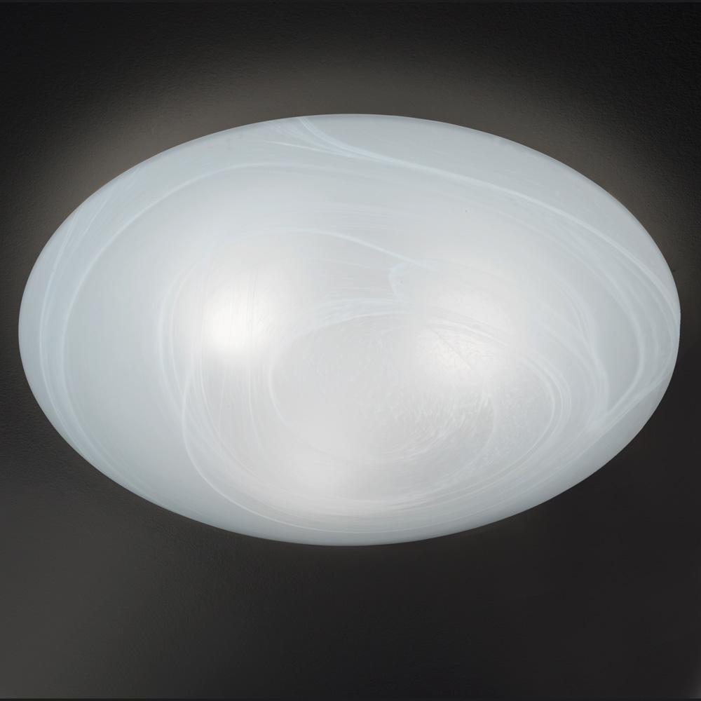 Pilzf rmig flache deckenlampe glas alabaster size 3 for Flache deckenlampe