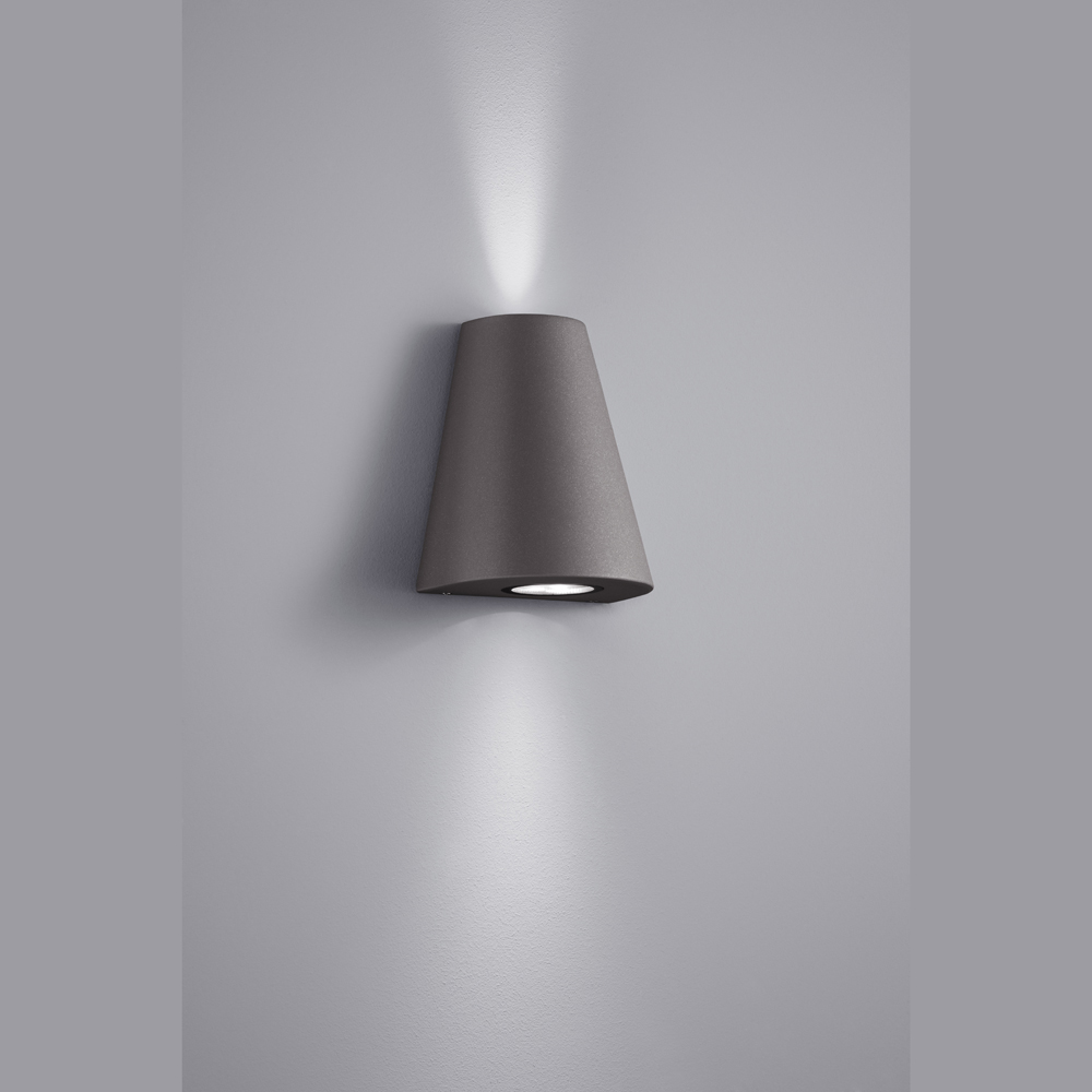 schmucke led lampe f r die aussenwand anthrazit. Black Bedroom Furniture Sets. Home Design Ideas