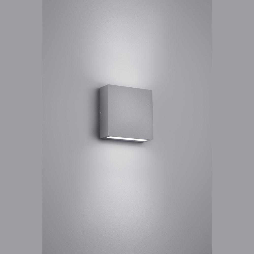extrem flache doppel led wand aussenlampe. Black Bedroom Furniture Sets. Home Design Ideas