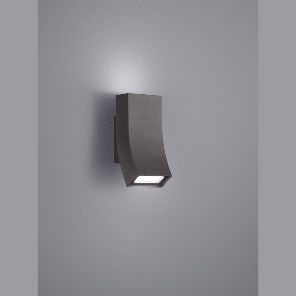 sanft geschwungene wand aussenlampe anthrazit. Black Bedroom Furniture Sets. Home Design Ideas