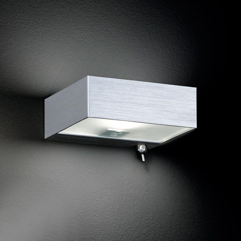 streng minimalistische flache wandlampe. Black Bedroom Furniture Sets. Home Design Ideas