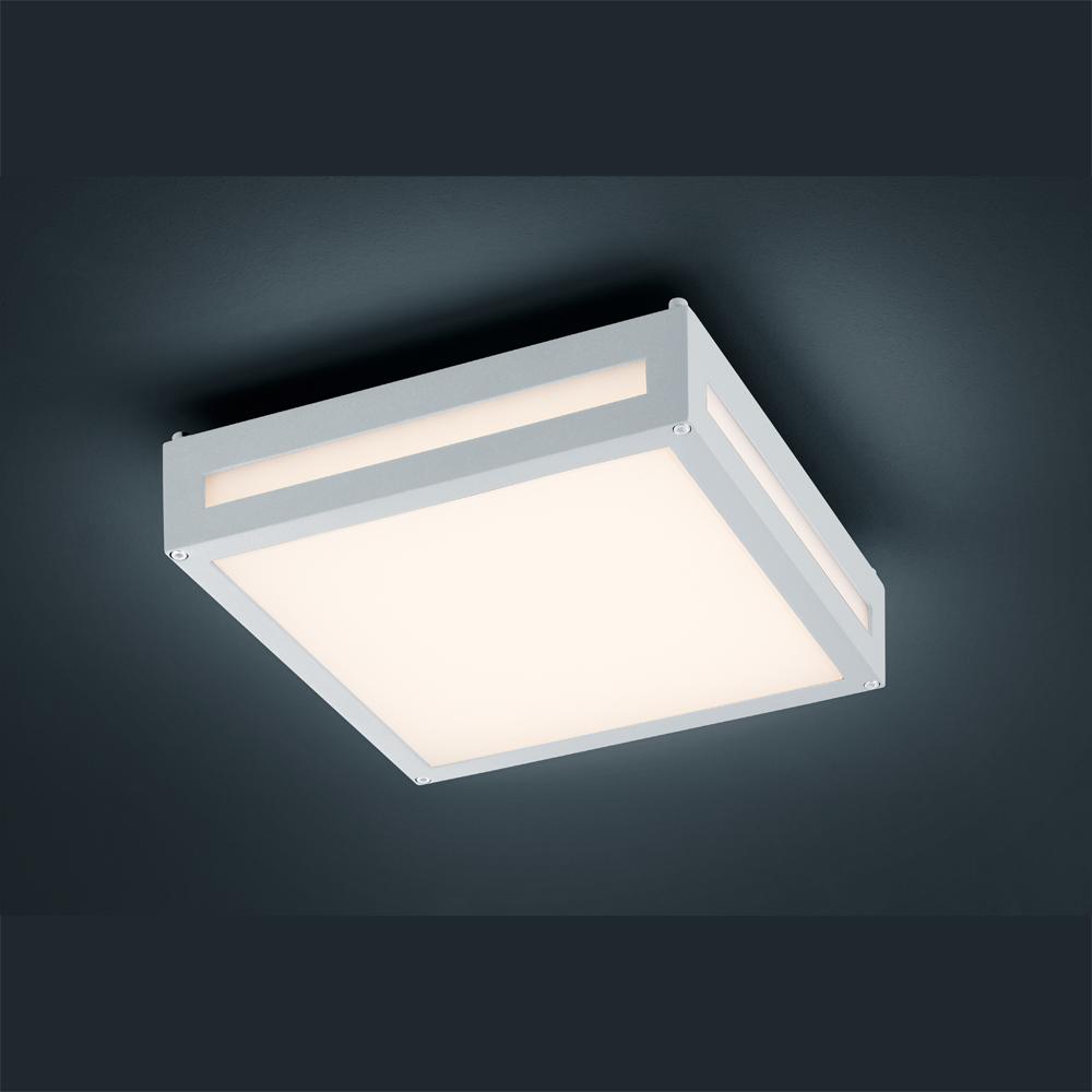 design aussenlampe mit led beleuchtung in weiss. Black Bedroom Furniture Sets. Home Design Ideas