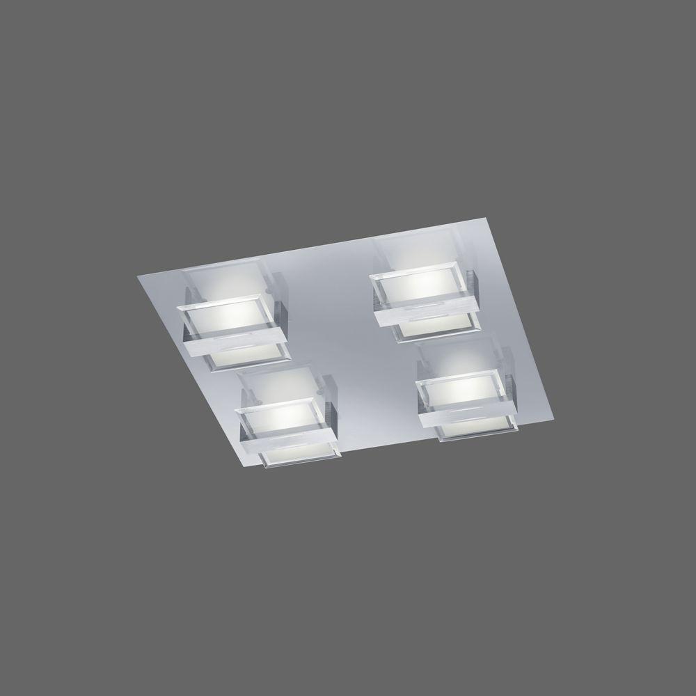 led deckenlampe chrom aluminium 20 watt. Black Bedroom Furniture Sets. Home Design Ideas
