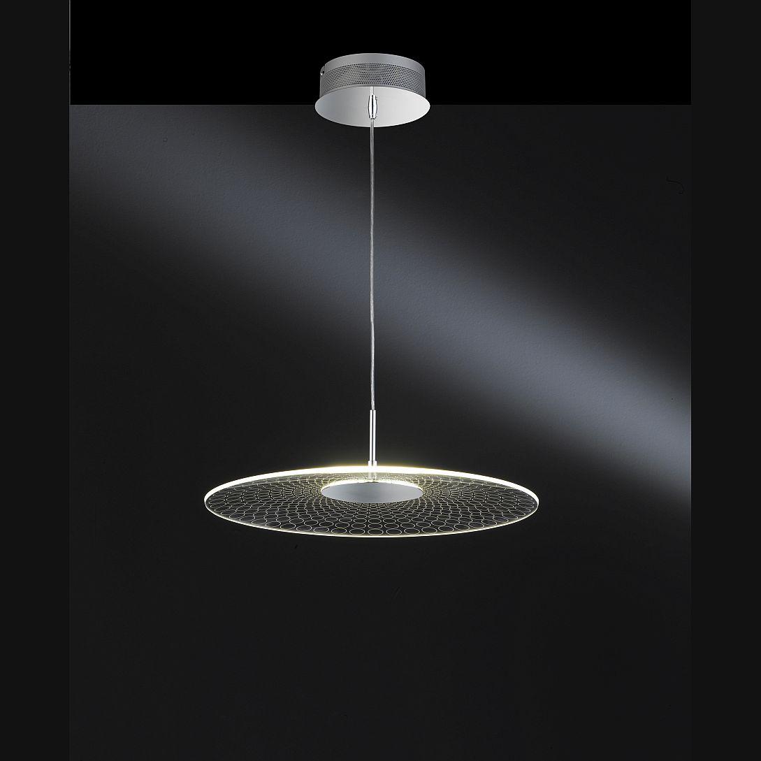 h ngelampe mit led lichtquelle und besonderem glasschirm. Black Bedroom Furniture Sets. Home Design Ideas