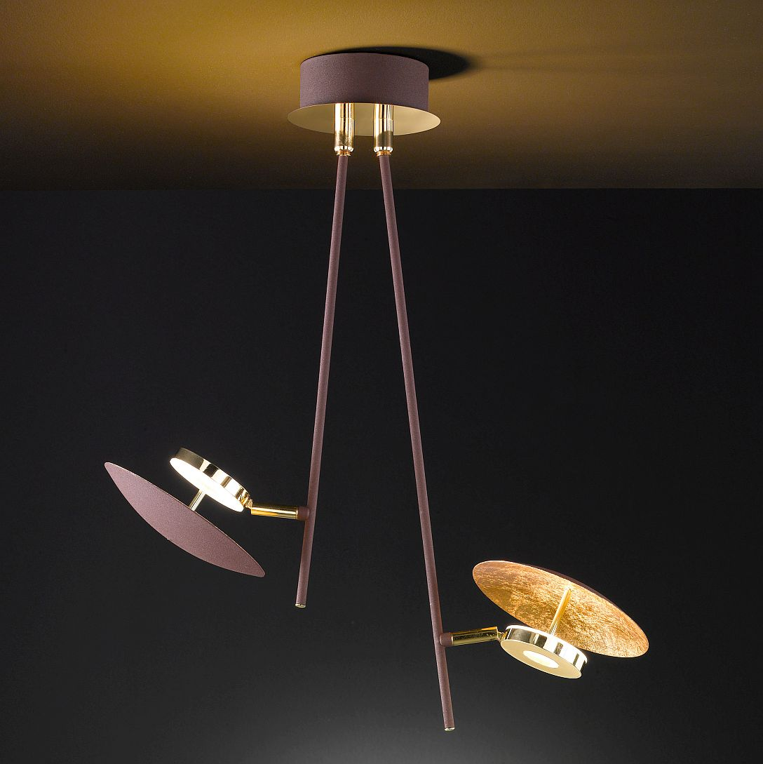 Vintage led deckenlampe mit beweglichen strahlern for Deckenlampe mit led