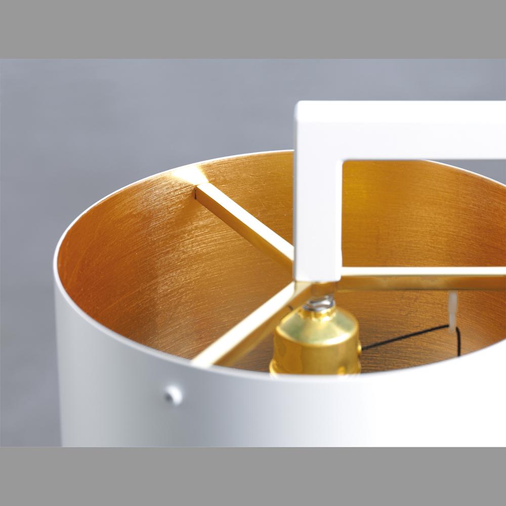 stehlampe anta afra in weiss schirm innen gold. Black Bedroom Furniture Sets. Home Design Ideas