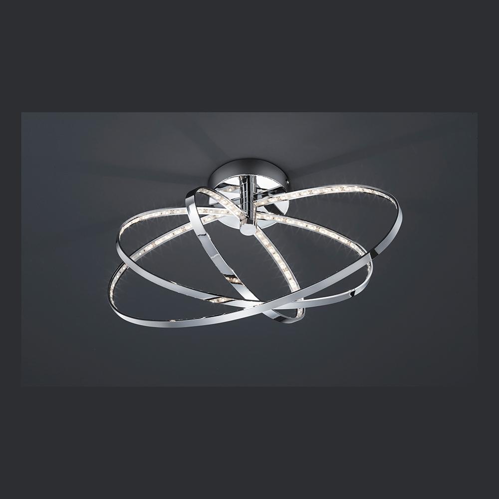 led deckenlampe in metall und kunststoff. Black Bedroom Furniture Sets. Home Design Ideas