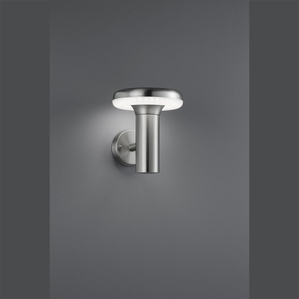 gartenlampen aus edelstahl mit led licht f r die aussenwand. Black Bedroom Furniture Sets. Home Design Ideas