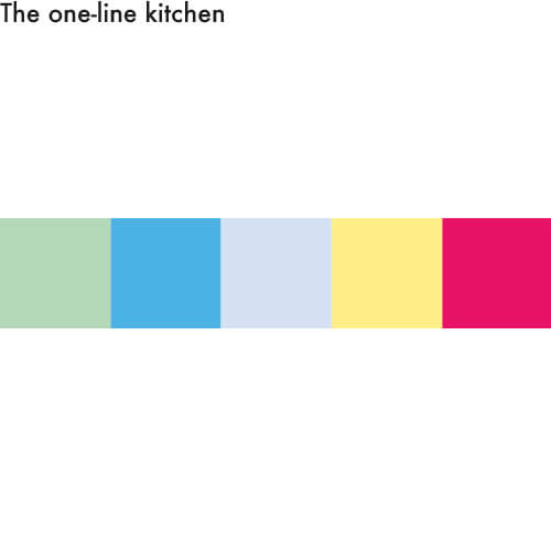 Single-row kitchen