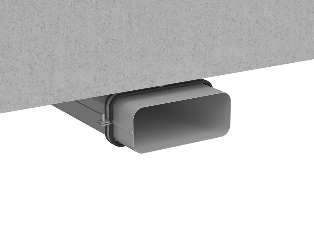 COMPAIR STEEL flow® laying on the kitchen ceiling