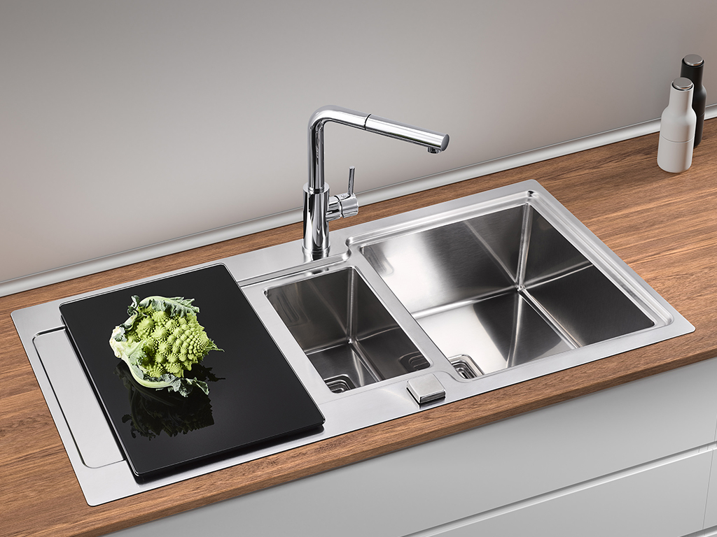 Built-in sink Chiave 2, stainless steel