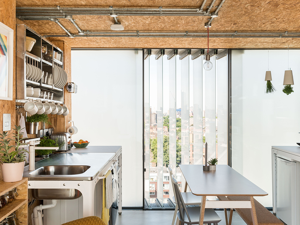 Concept Kitchen in The Water Tank, Keeling House, London. Photo credit: themodernhouse.com