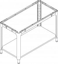 Table module A height adjustment