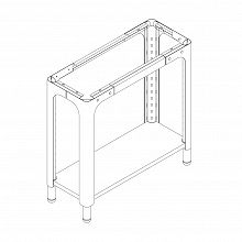 Table module C height adjustment, white RAL 9003