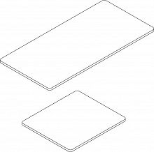 Worktop steel sheet T 640, 730 mm, silk grey, RAL 7044