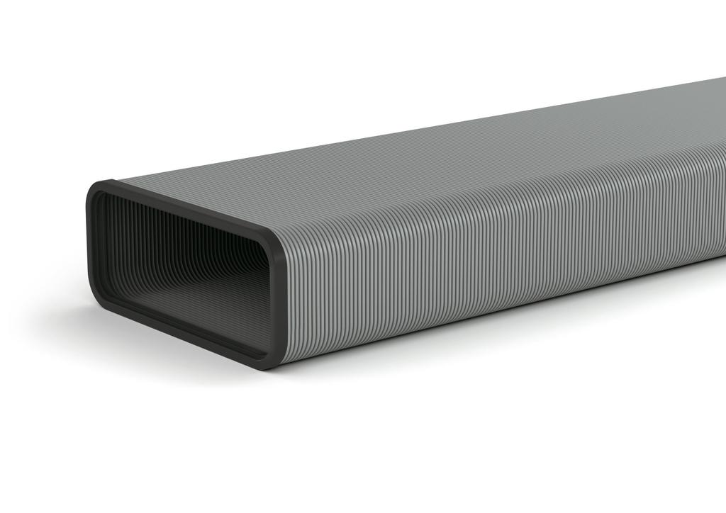 SF-VRO flex 150 Flachkanalrohr, Aluminium, L 500 mm