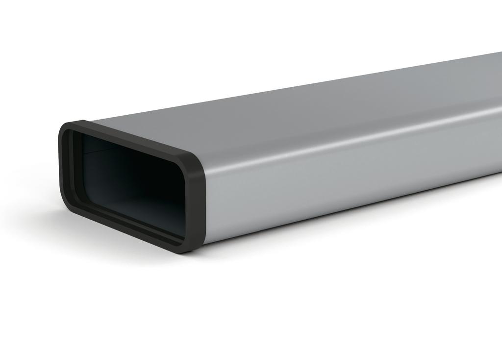 SF-VRO 150 Flachkanalrohr, verzinkter Stahl, L 500 mm