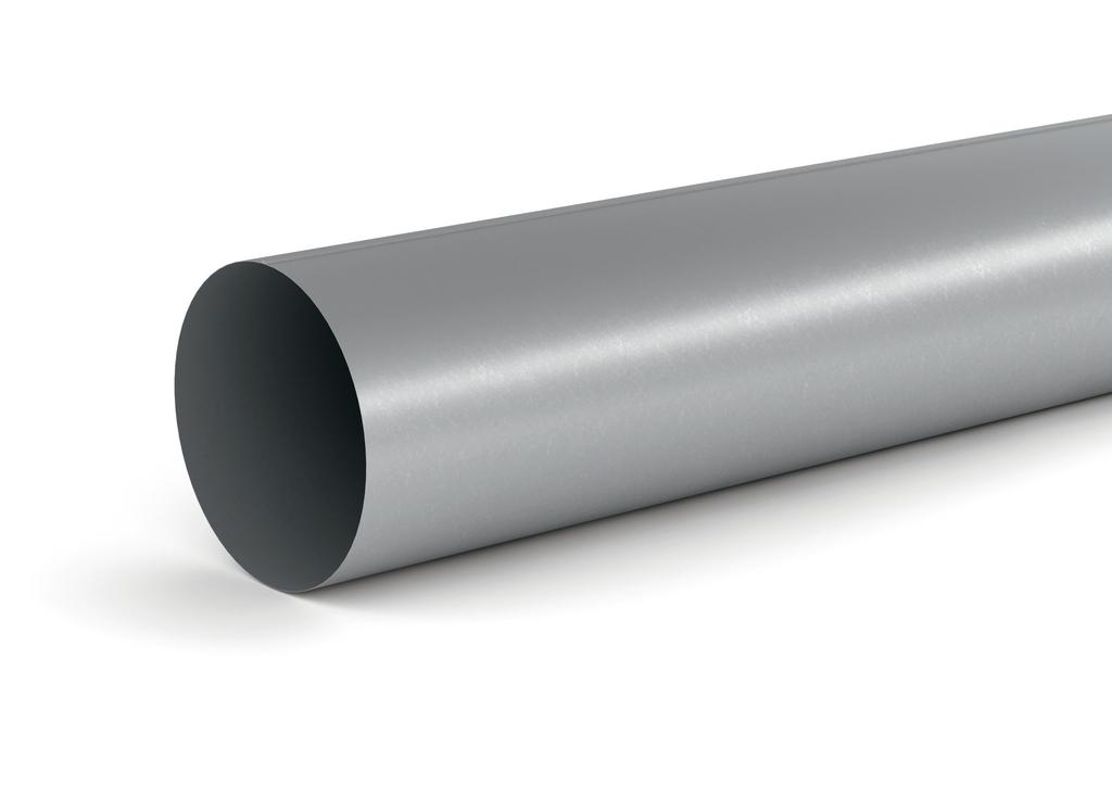 SR-R 150 Rundrohr, verzinkter Stahl, L 500 mm