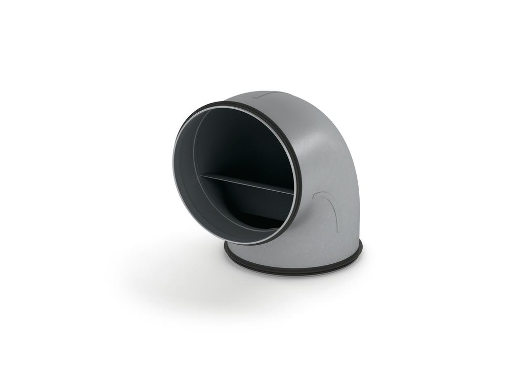 SR-RBV 150 Rohrbogen 90°, verzinkter Stahl
