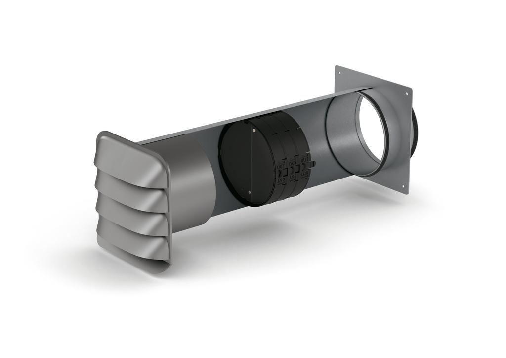 SF-E-Jal Col® 150 Mauerkasten inkl. THERMOBOX, verzinkter Stahl/Edelstahl