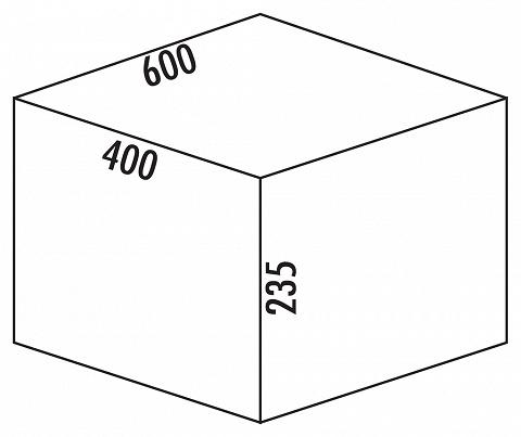 Antirutschmatte für COX BOX Abfallsysteme bis Schrankbreite 600 mm