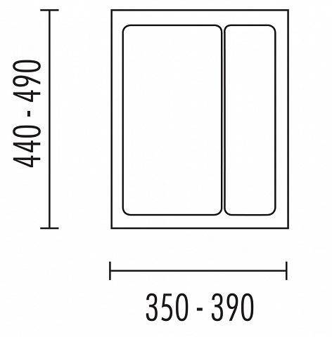 Naber Storex Mehrzweck Einsatz für 450er Schrank Grau 50xB35-39xT44-48cm