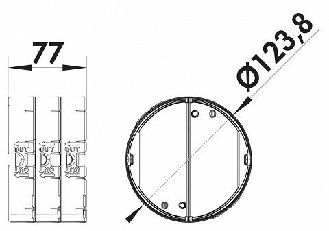 4022049 /Ø125mm NABER R/ückstauklappe THERMOBOX//W/ärmer/ückhaltesystem