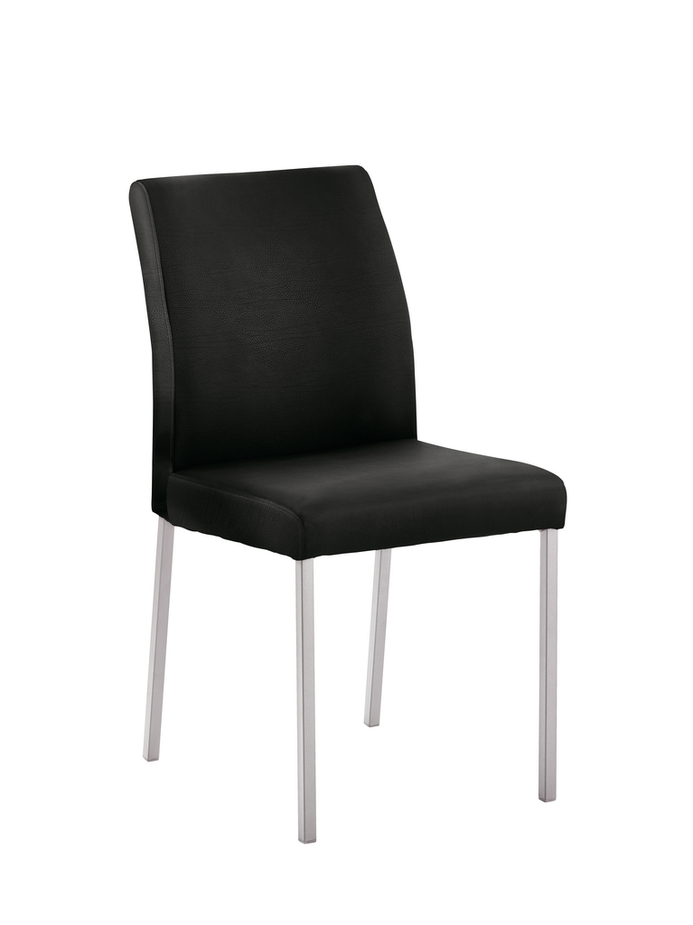Barile 1L, Stuhl, Gestell Edelstahl, Bezug schwarz