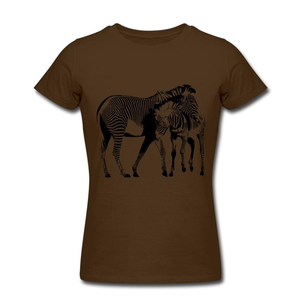 damen t shirt zebra braun xl im webshop kaufen zoostyle. Black Bedroom Furniture Sets. Home Design Ideas