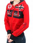 Geographical Norway Expedition Sweat für SIE «Flyer Lady», rot