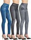 Shape jeggings en pack de 3, noir, bleu, gris